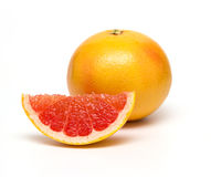 Grapefruit  on white background. Royalty Free Stock Image