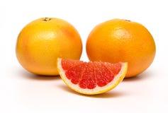 Grapefruit  on white background. Stock Photography