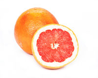 Grapefruit, white background Stock Photo