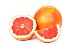 Grapefruit on white background Stock Photography
