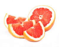 Grapefruit, white background Stock Images