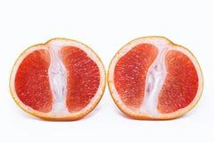 Grapefruit on white isolated background. stock images