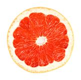 Grapefruit on white with path. Grapefruit closeup on white background with path Stock Photo