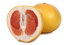 Grapefruit on white Stock Images
