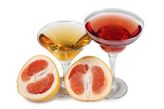 Grapefruit wine Stock Photography