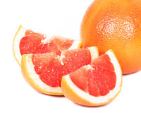 Grapefruit, witte achtergrond Royalty-vrije Stock Fotografie