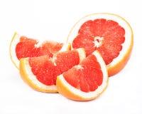 Grapefruit, witte achtergrond Stock Afbeeldingen