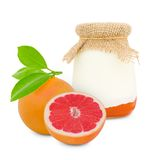Grapefruit yogurt Stock Photo