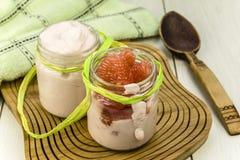 Grapefruit yogurt Stock Photos