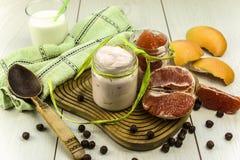 Grapefruit yogurt Royalty Free Stock Photos