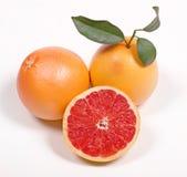 grapefruit zielonego liść dojrzały whith Obrazy Royalty Free