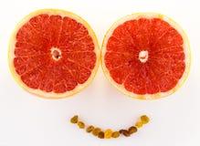 Grapefruitglimlach Stock Foto