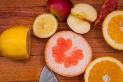 Grapefruitowa, pomarańczowa cytryna, zdjęcia stock