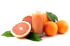 grapefruitowego soku pomarańcze Fotografia Stock