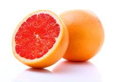 grapefruitowego wizerunku odosobniony biel zdjęcia royalty free