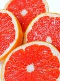 grapefruitowi soczyści czerwoni plasterki Fotografia Royalty Free
