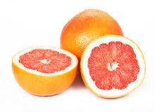 Grapefruitowy, biały tło, Fotografia Royalty Free