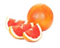 Grapefruitowy, biały tło, Obrazy Royalty Free