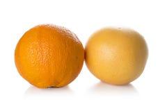 grapefruitowy i pomarańczowy Fotografia Royalty Free