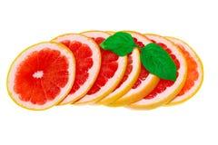 Grapefruitowy odosobniony, grapefruits Healhy grapefruitowy z liście zdjęcie stock