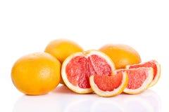 Grapefruitowy odosobniony na białych tło owoc karmowych Zdjęcie Royalty Free