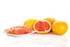 Grapefruitowy odosobniony na białych tło owoc karmowych Fotografia Royalty Free