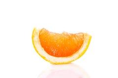 Grapefruitowy odosobniony na białych tło owoc karmowych Obrazy Stock