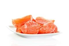 Grapefruitowy odosobniony na białych tło owoc karmowych Obraz Royalty Free