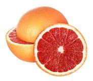 grapefruitowy odosobniony na białym tle Obrazy Royalty Free
