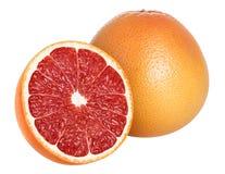 Grapefruitowy odosobniony na bielu, z ścinek ścieżką Zdjęcie Stock