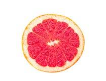 Grapefruitowy plasterek odizolowywający na białym tle obraz stock