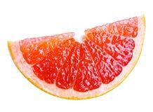 Grapefruitowy plasterek. z ścinek ścieżką zdjęcie royalty free