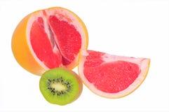 grapefruitowy tło biel Zdjęcia Royalty Free