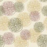 Grapefruitowy wzór Zdjęcia Royalty Free