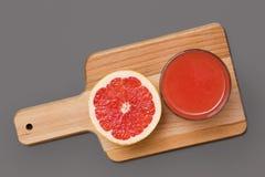 Grapefruitplak en sap Royalty-vrije Stock Afbeelding