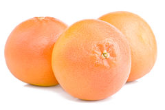 Grapefruits. Isolated on the white Stock Images