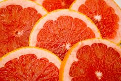 Grapefruits. Citrus Fruits - pink grapefruits also for background Stock Photo