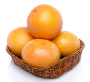 Grapefruits in a basket Stock Photo