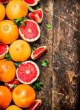 grapefruits dojrzali Obrazy Stock