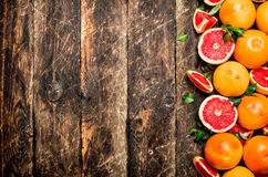 grapefruits dojrzali Zdjęcia Stock