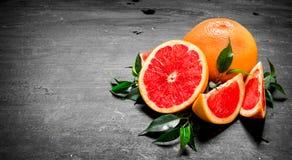grapefruits dojrzali Zdjęcia Royalty Free