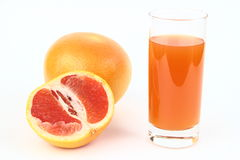 The grapefruits and drink Stock Photo