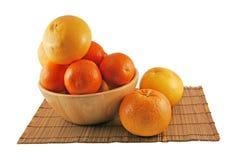 Grapefruits en sinaasappelen Stock Afbeeldingen