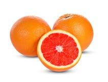 Grapefruits isolated on white background royalty free stock photography