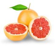 Grapefruits isolated on white. Background Royalty Free Stock Photo