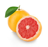 Grapefruits isolated on white. Background Royalty Free Stock Photos