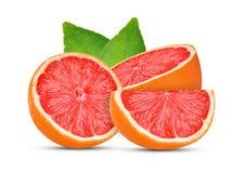 Grapefruits isolated on white background royalty free stock photo