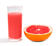 Grapefruits and juice Stock Image