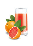 Grapefruits juice Stock Photo