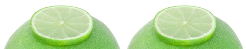 Grapefruits with limes Royalty Free Stock Image